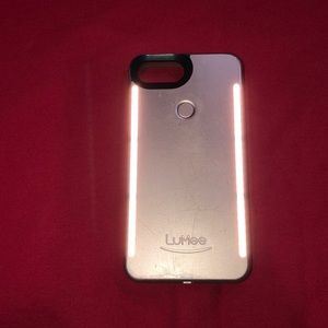 Rose gold lumee case for iPhone 8 Plus w/ charger